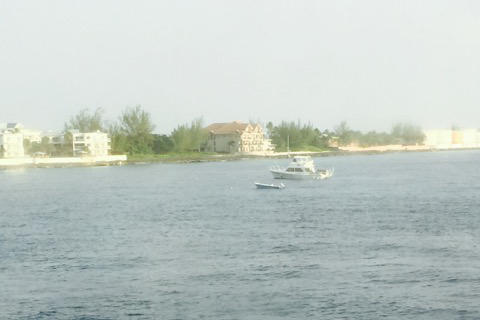 Boats anchored off the coast of Grand Cayman