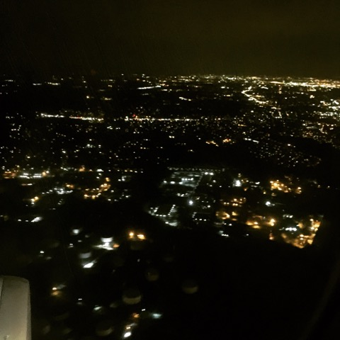 Philadelphia by night from 6000 feet