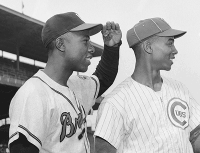 Hank Aaron and Ernie Banks